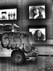 the people only bound back when they pound back (insky) Tags: nyc blackandwhite newyork girl truck graffiti strawberry cash grainy unionsquare highiso thecoup partymusic beautymodel flickriosapp:filter=nofilteruploadedbyflickrmobile ghettomanifesto