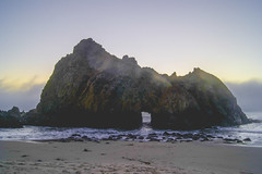 Big Sur, CA (Alesha A.B.) Tags: ocean california sunset seascape beach landscape bigsur keyholerock