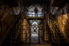 Confined (Jon Fleurant) Tags: lighting never abandoned philadelphia silhouette stairs canon lost scary escape stuck empty haunted spooky prison jail facility confined penitentiary t3i correctional prisonwalls jonfleurantphotography