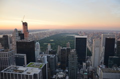 View from Top of the Rock - New York City (Ka!zen) Tags: nyc newyorkcity usa newyork skyscraper dusk centralpark rockefellercenter topoftherock
