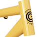 Head Tube - Gunnar Ruffian Single Speed finished in Bamboo with Black Bullseye Decals.