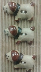 #93 Dogs (Pat's_photos) Tags: dog ceramic button psl coffeecream 11493 365d 114picturesin2014