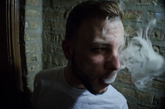 Benjamin (JPCalubaquib) Tags: seattle portrait white chicago leather word photography weed smoke cement charcoal benjamin flint blunt humboldtpark ralphlauren jordans coolgrey