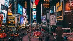 Times Square (TimoSchm) Tags: nyc newyorkcity usa ny newyork reflection square lights fuji manhattan times x100s