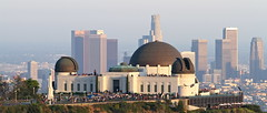 Griffith Observatory flanked by downtown Los Angeles (kjdrill) Tags: california losangeles downtown cityscape skyscrapers observatory griffith mthollywood
