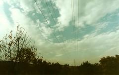 Cables y Paisaje (Lalo Jiménez) Tags: sky clouds landscape torre pentax paisaje cables cielo nubes pentaxk1000 barranca torredeluz