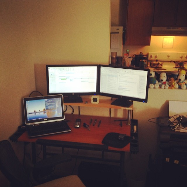 My little workspace. Love working virtual office from home. #workflow #badassbitch #amazing