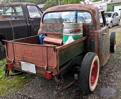 Ford truck rat rod (SteveMather) Tags: ohio ford beer truck rat cleveland pickup rod oh northeast 4s molson iphone 2014 topazclean