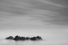 Killiney Rocks (annemcgr) Tags: longexposure sea dublin water monochrome clouds blackwhite rocks le fineartphotography killiney annemcgrath