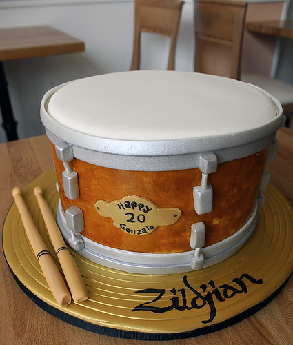 Drum and Cymbal Cake