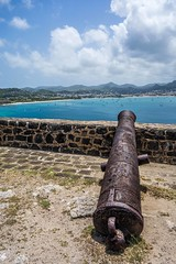 "Cannon at Pigeon Island • <a style=""font-size:0.8em;"" href=""http://www.flickr.com/photos/91306238@N04/14598897083/"" target=""_blank"">View on Flickr</a>"