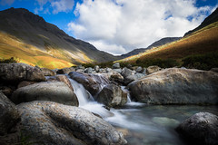 Wasdale torrent (manphibian) Tags: wasdale head lake district water waterfall river torrent long exposure sony sonya7 zeiss loxia 21mm sun sunny sky