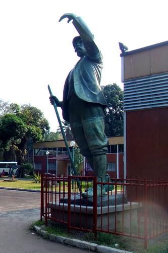 Henry Morton Stanley; estatua en el museo.   Kinshasa. RD Congo