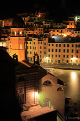 Vernazza, Cinque Terre (tomosang R32m) Tags: cinqueterre  liguria   laspezia 5terre vernazza  italia italy   yakei night longexposure   firefly  beach coast village travel trekking