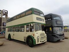 HFR501E Blackpool Transport 501 on the Promenade (j.a.sanderson) Tags: hfr501e blackpool transport 501 promenade leyland titan pd3a1 mccw registered new june 1967 buses leylandtitan bus