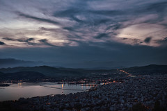 Dark beauty (Geo.M) Tags: volos city greece thessaly greek dark afternoon sky cloudporn after sunset port sea water clouds light low noflash canon 700d long exposure landscape nightphotography lights