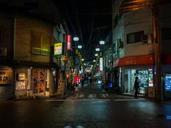 . (Elliott Fusy-Pudal) Tags: nagasaki night street weekend light neon trip 長崎 通り 夜 ネオン ライト 雨 商店街 shops