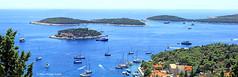les Pakleni de la  baie d' Hvar (vue depuis le la chteau de la ville de Hvar ) (philippedaniele) Tags: vividstriking baie lots mer paysage
