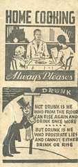 Home Cooking and Drunk Poetry (jericl cat) Tags: matches matchbook match illustration vintage losangeles paper ephemera restaurant dining cocktail home cooking drunk poetry poem drunkard lightpost