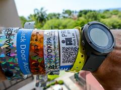 Back Door Access (Rob Lee) Tags: ironman access badge wristband passes stinkinbadges suunto watch