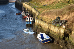 Boats in Seaton Sluice harbour (DavidWF2009) Tags: northumberland sea harbour seatonsluice fishingboats boats lowtide