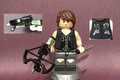 Custom Lego Daryl Dixon (zthursam1205) Tags: walking dead daryl dixon walker crossbow knife custom lego minifigure
