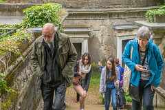 out of the depths (stevefge) Tags: cemetary highgate london uk people candid girls graveyard tomb crypt reflectyourworld