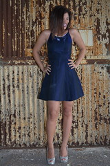 'Taty' (miranda.valenti12) Tags: standing stance stand taty posing smile smiling abandoned building factory portrait dress heels happiness facial expression happy