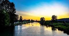 River Luminance (Images by Christie  Happy Clicks for) Tags: golden pittmeadows bc canada nikon d5200 dslr slr twilight goldenhour bluehour southalouetteriver river sundown sunset sunglow luminance skylight sky photog