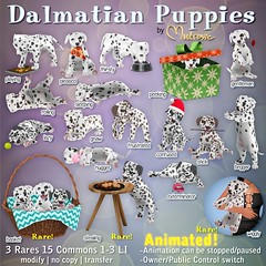 Mutresse@The Arcade in December 2016-Dalmatian Puppies Gacha Key (Eeky Cioc) Tags: puppy cute dogs four paws mammal original mesh scripted animated