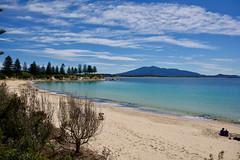 Safe beach (jack eastlake) Tags: bermagui horseshoe bay bega valley far south coast nsw beach beaches holidays swimming mt mount gulaga sea seascape