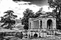 Palladian Bridge and Gothic Temple, Stowe, Buckinghamshire (Biff_Brown) Tags: gimp lightzone davehill