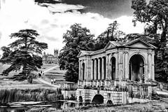 Palladian Bridge and Gothic Temple, Stowe, Buckinghamshire (Biff_Brown) Tags: gimp lightzone davehill