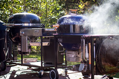 Smoking Performer (Another Pint Please...) Tags: weber grill kettle performer