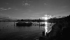 Noires dcoupes (Diegojack) Tags: paysages baie morges bateau contrejour soleilcouchant lumire noirblanc silhouettes