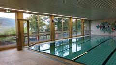 Schwimmbad Jugendherberge Oberwesel mit Terrasse