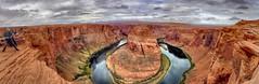 Scary edge of Horseshoe Bend (Chief Bwana) Tags: az arizona glencanyon glencanyonnationalrecreationarea coloradoriver horseshoebend sandstone psa104 chiefbwana explored 500views 1000views 2000views 3000views 4000views 5000views 6000views 7000views 8000views 9000views panorama 10000views