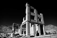 Break the bank (Marc Briggs) Tags: dsc8739aw bank abandoned monochrome blackandwhite rhyolite ghosttown brickbuilding neveda mining