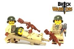 Dec 2016 - WW2 US Medic (BrickWarriors - Ryan) Tags: brickwarriors custom lego minifigure weapons helmets armor battle guam medic syringe carbine usa world war ww2 pacific theater stretcher military gun