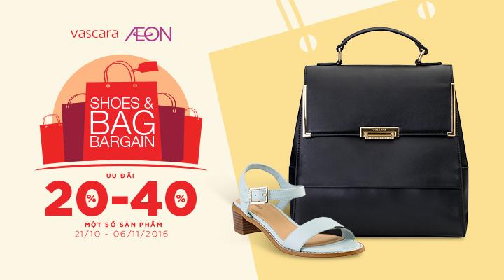 Vascara Aeon Mall Tân Phú – Shoes & Bag Bargain - Ưu đãi từ 20-40% một số sản phẩm
