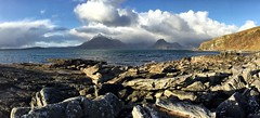 Down by the sea (CNorth2) Tags: shore scotland uk water ocean mountains elgol sunny outdoor clouds isleofskye rocks