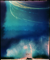 Solar Spray (batuda) Tags: pinhole obscura stenope lochkamera analog analogue solargraphy solarigraphy solarigrafia solargraph sun solar can beercan mediumformat paper coiled fiberbased universal 10x12 color colour undeveloped unfixed sunpath track trail tree trees horizon sky ground spray blue summer altprocess šinkūnai tauragnai utena lithuania lietuva nature