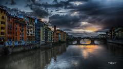 Ma vie rve - 2 (Tra Te E Me (TTEM)) Tags: lumixfz1000 photoshop cameraraw italie toscane florence arno eau reflets ciel nuages crpuscule heurebleue architecture couleurs