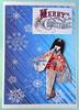 Christmas card 5_2016 (tengds) Tags: christmascard card handmadecard japanesepaperdoll washidoll origamidoll ningyo geisha kimono obi japanesepaper embossedyuzenwashi yuzenwashi washi chiyogami wazome katazome nailartsticker nailsticker blue silver red snowflakes papercraft tengds