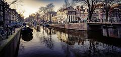 Amsterdam sunset (julesnene) Tags: amsterdam canon7dmark2 canon7dmarkii europe juliasumangil bicycle canal destination dusk julesnene sunset travel noordholland netherlands nl
