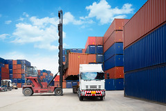 Containers in the port (Patrick Foto ;)) Tags: big box business cargo carrier commerce commercial container crane customs deliver dockside economy equipment export freight import industrial industry intermodal international large loading logistic maritime merchandise metal nautical pattern platform port quay ship shipping sky stack stacked stacking steel storage terminal trade transit transport transportation warehouse weight wharf laemchabang changwatchonburi thailand th