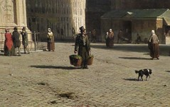Detail of a painting by Jan Weissenbruch, 1860 (Haarlem) (Elisa1880) Tags: jan weissenbruch teylers museum haarlem noordholland nederland netherlands painter schilder artist kunstenaar art kunst schilderij painting grote markt