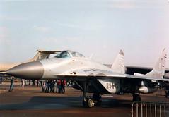 MiG-29G 2914 - German Air Force - RAF Mildenhall 1996 (anorakin) Tags: mig29 mikoyan luftwaffe gaf mig29g 2914 germanairforce raf mildenhall 1996
