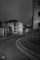 Swan Hill Road. Scarborough. (Distinctive Digital) Tags: effect autumntime england blackandwhite lighting photography season thoroughfare time building dawnofday exterior houses lamp lampost morning photoshopprocessed portraitorientation road scarborough street timeofday treatment urbanphotgraphy vignette northyorkshire gb