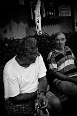 _DSC8591 (stimpsonjake) Tags: nikoncoolpixa 185mm streetphotography bucharest romania city candid blackandwhite bw monochrome oldmen elderly bench faces portrait